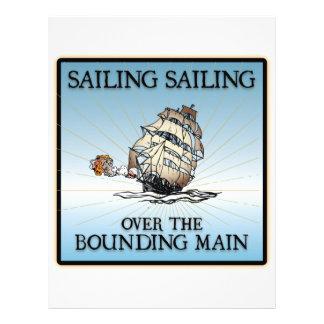 Sailing, Sailing - Over The Bounding Main Custom Letterhead