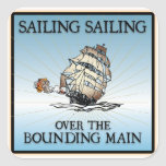 Sailing, Sailing - Over The Bounding Main stickers