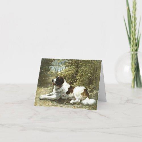 Saint Bernard Dog Blank Note Card