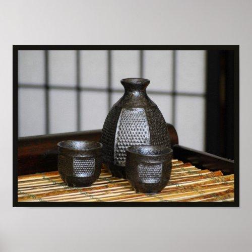 Sake Cups and Carafe Print