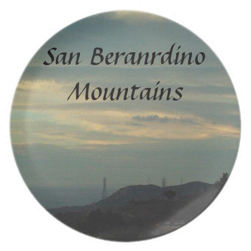 San Bernardino Mountains Plate fuji_plate