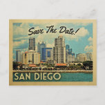San Diego Save The Date Vintage Postcards