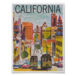 San Francisco California Vintage Travel Poster