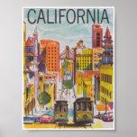 San Francisco California Vintage Travel Poster
