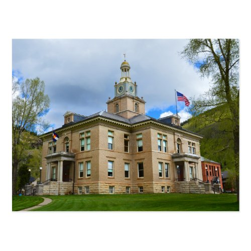 San Juan County Courthouse, Silverton, Colorado Postcard