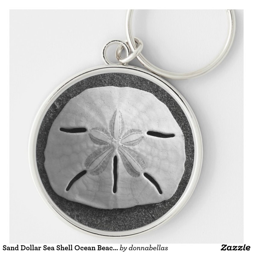 Sand Dollar Sea Shell Ocean Beach Keychain