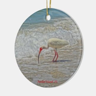Sanibel Island, Florida White Ibis Ornament