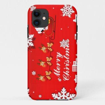 Santa and Reindeer Christmas iPhone 11 Case