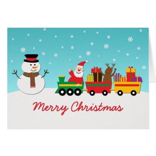 Santa And Snowman Christmas Card Zazzle