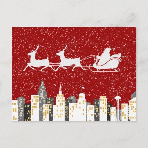 Santa - Christmas Postcard - SRF