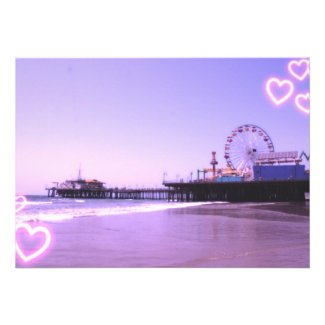 Santa Monica Pier Purple Hearts Custom Announcement