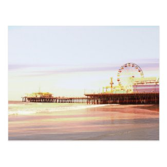 Santa Monica Pier Sunrise Postcard