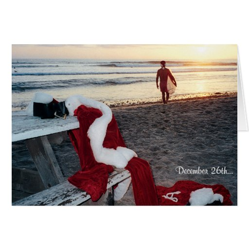 Santa Surfs The Day After Christmas Card Zazzle