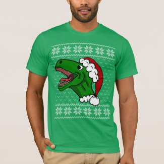 Santa T-Rex Ugly Christmas Sweater