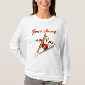 Santa's Gone Skiing T-Shirt
