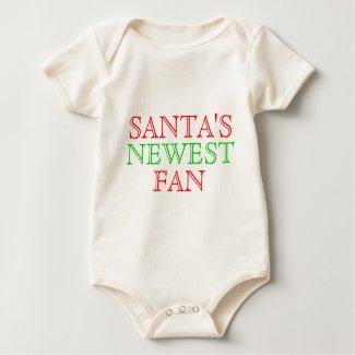 Santa's Newest Fan Baby Creeper shirt