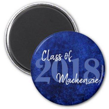 Sapphire Blue Graduation | Cobalt Grunge Grad Year Magnet