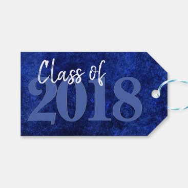 Sapphire Graduation | Blue Class of 2018 Party Gift Tags