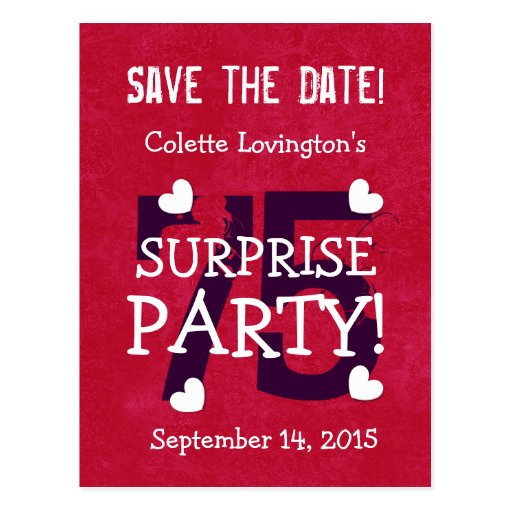 save date surprise theme
