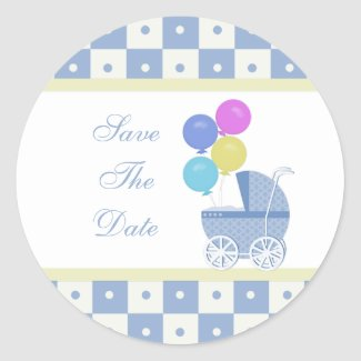 Save The Date Baby Shower Stickers sticker