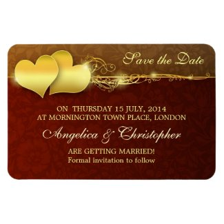 save the date elegant retro design magnets