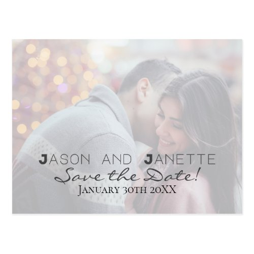 """Save the Date"" for Wedding +Photo Postcard"