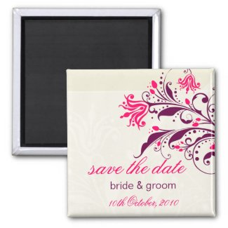 Save the Date Lily Magnet