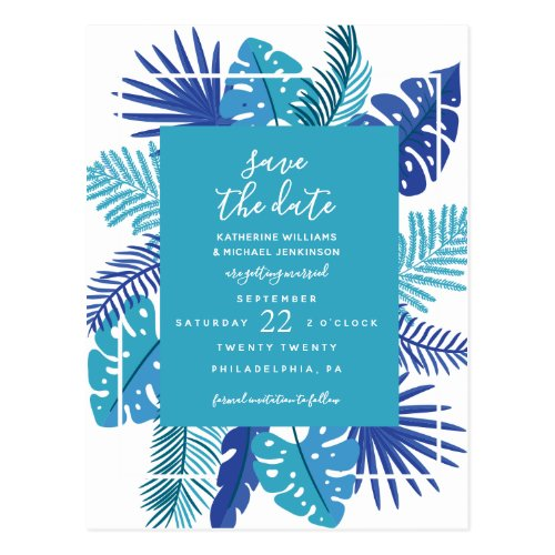 Save The Date | Tropical Wedding Postcard