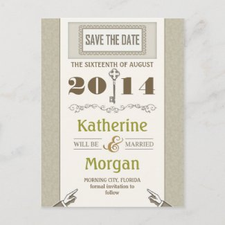 save the date vintage creative postcards