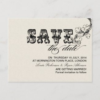save the date vintage postcards