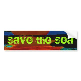 Save the Sea Bumper Sticker 8 CricketDiane Ocean Waves Art