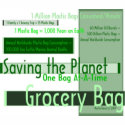 Saving the Planet Grocery Bag zazzle_bag