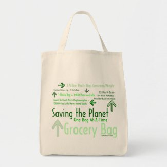 Saving the Planet One Bag At-A-Time Grocery Bag 2 bag