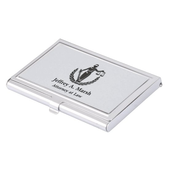Scales of Justice Attorney Personalized Case For Business Cards