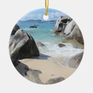 Scenic Beach at The Baths on Virgin Gorda, BVI Ornaments