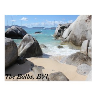 Scenic Beach at The Baths on Virgin Gorda, BVI Post Card