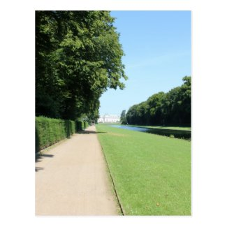 Schloss Benrath - Park and distant Palace Postcards