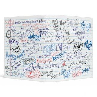 School Doodles Binder binder
