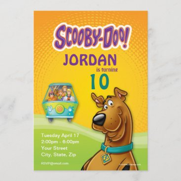 Scooby-Doo & The Gang Mystery Machine Invitation