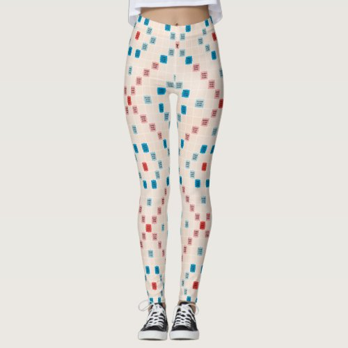 Scrabble Vintage Gameboard Leggings