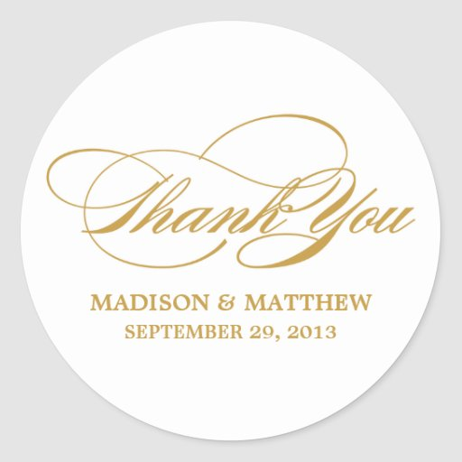 SCRIPTED   WEDDING THANK YOU FAVOR LABEL