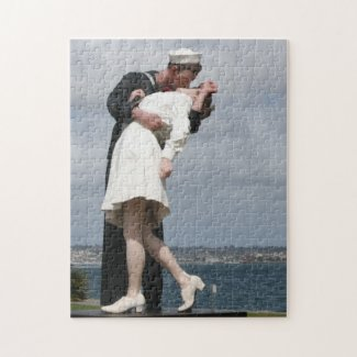 Sculpture Unconditional Surrender in San Diego Jigsaw Puzzles