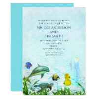 Sea Animals Beach Watercolor Party Invitations