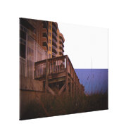 Sea Oats at Resort Beach Access Wall on Beach Stretched Canvas Prints