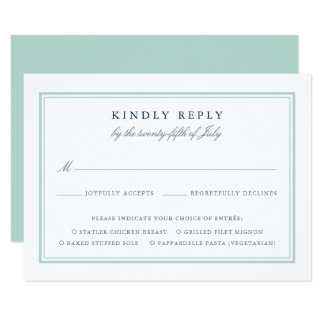 Seagl Tides Wedding Rsvp Card W Meal Choice