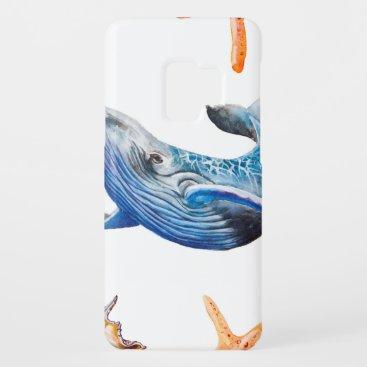 Seamless pattern Caribbean starfish Case-Mate Samsung Galaxy S9 Case
