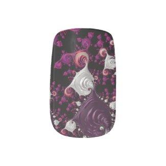 Seashell Lavender,White Fractal Minx Nail Wrap
