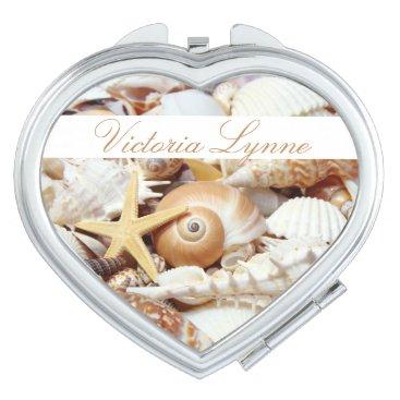 Seashells Personalized Compact Mirror
