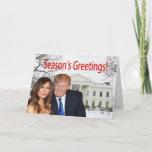 Season's Greetings from Donald and Melania Holiday Card
