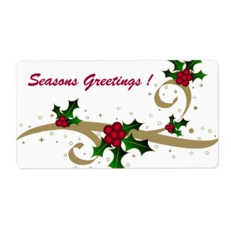Seasons Greetings ! - Label label